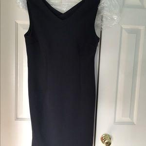Navy blue Tahari scuba dress
